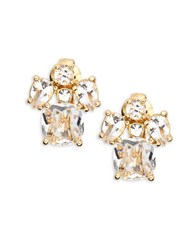 Kate Spade Make Me Blush Crystal Cluster Clip On Earrings Gold