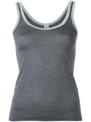 Eleventy Knitted Silk Vest Grey