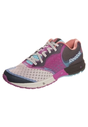 Reebok One Guide 2.0 Cushioned Running Shoes White Pink Blue Pool