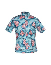 Franklin And Marshall Shirts Shirts Men Azure