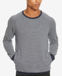 Kenneth Cole Reaction Men's Stripe Sweater Indigo