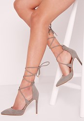 Missguided Lace Up Court Shoe Grey Grey