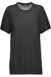 Rag And Bone Bree Slub Jersey T Shirt Charcoal