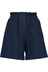 Mother Of Pearl Terry Cotton Blend Piqu And Eacute Shorts Navy