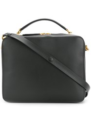 Anya Hindmarch The Stack Double Satchel Black