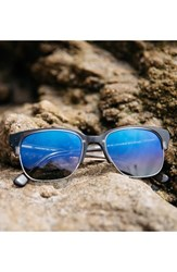 Shwood Men's 'Newport' 52Mm Polarized Sunglasses Charcoal Elm Blue Charcoal Elm Blue