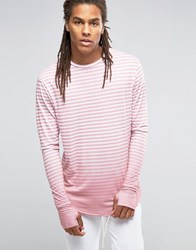 Granted Striped Longsleeve T Shirt Pink