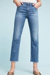 Anthropologie Ag Isabelle High Rise Straight Jeans Denim Medium Blue