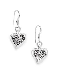 Lois Hill Sterling Silver Heart Drop Earrings