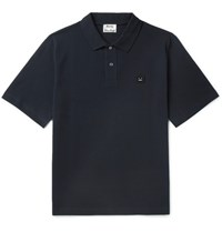 Acne Studios Falco Cotton Pique Polo Shirt Blue