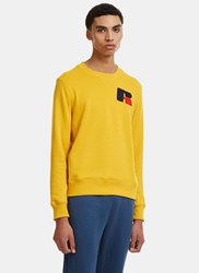 Russell Athletic Eagle R Chenille Patch Sweater Yellow