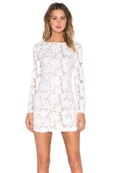 Endless Rose Faux Leather Lace Dress White