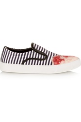 Mother Of Pearl Achilles Striped Satin Slip On Sneakers Pink