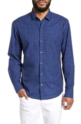 Zachary Prell Genndy Regular Fit Sport Shirt Indigo