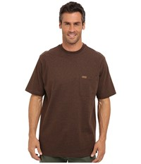 Pendleton S S Deschutes Pocket T Shirt Dark Brown Mix Men's Short Sleeve Pullover