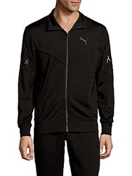 Puma Printed Zipper Jacket Black