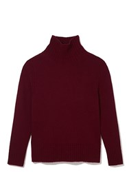 Daughter The Rib Collar Tunic Knit Red