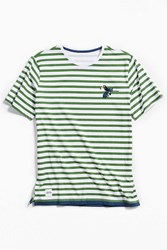 Native Youth Abalone Stripe Tee Green Multi