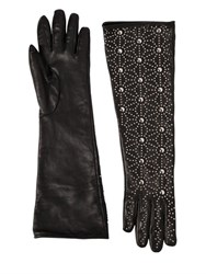 Dsquared Studded Napa Leather Gloves