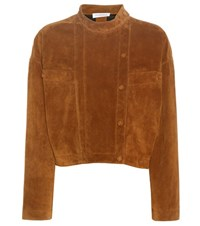 J.W.Anderson Suede Jacket Brown