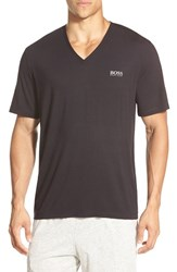 Men's Boss Stretch Modal V Neck T Shirt Black