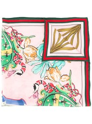 Gucci Letter Printed Scarf Green