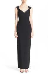 Women's Herve Leger V Neck Bandage Gown