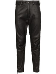 Ann Demeulemeester Cropped Straight Leg Trousers Black