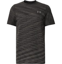 Under Armour Vanish Seamless Space Dyed Heatgear T Shirt Black