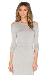 Beautiful People Open Shoulder Pullover Gray
