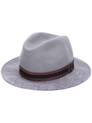 Etro Paisley Print Hat Purple