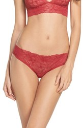 Samantha Chang Women's All Lace Glamour Panties Scarlet