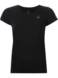 Lucas Hugh Scoop Neck T Shirt Black