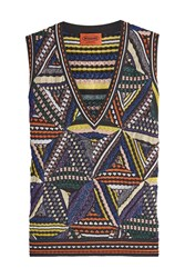Missoni Knit Sleeveless Top With Metallic Thread