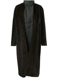 Toga Layered Belted Coat Brown