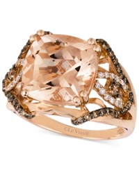Le Vian Morganite 6 Ct. T.W. And Diamond 1 2 Ct. T.W. Ring In 14K Rose Gold