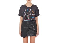 Isabel Marant Women's Dewel Graphic Cotton T Shirt Dark Grey