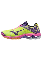 Mizuno Wave Lightning Z Volleyball Shoes Lime Punch Pansy Diva Blue Neon Yellow