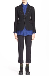 Julien David One Button Wool Blazer Black