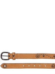 Htc Hollywood Trading Company 30Mm Daisy Studded Leather Belt