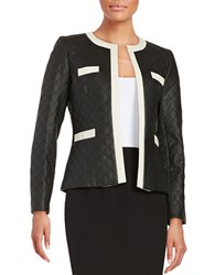 Tahari By Arthur S. Levine Quilted Leatherette Jacket