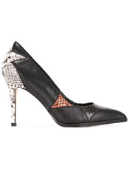 Diesel Snake Print Pumps Black
