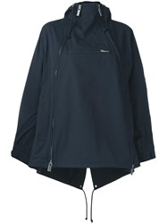 Sacai Zipped Parka Jacket Blue