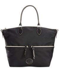 Dooney And Bourke Nylon Large Pocket Satchel Black Black