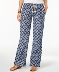 Roxy Juniors' Oceanside Printed Soft Pants Dark Blue