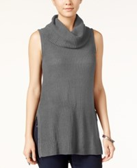 Ultra Flirt Juniors' Sleeveless Cowl Neck Tunic Heather Grey