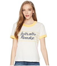 Roxy Down By The River B Marshmallow Buff Yellow T Shirt White