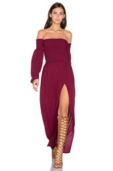 Blue Life Off Shoulder Maxi Dress Wine