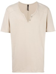 Giorgio Brato Layered T Shirt Nude Neutrals