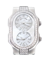 Philip Stein Teslar Philip Stein Small Signature Double Diamond Watch Head White Dial
